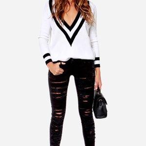BLANKNYC black very distressed skinny jeans